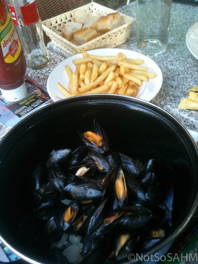 Moules frites, Amboise France  Not So SAHM