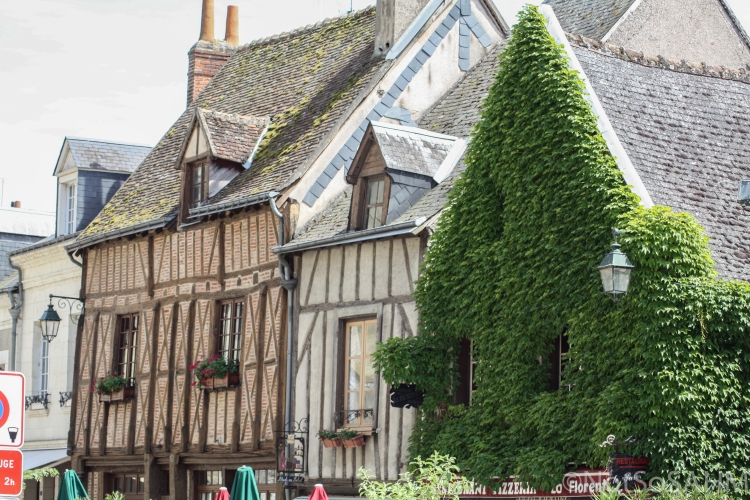 Traditional facades in Amboise, France Not So SAHM