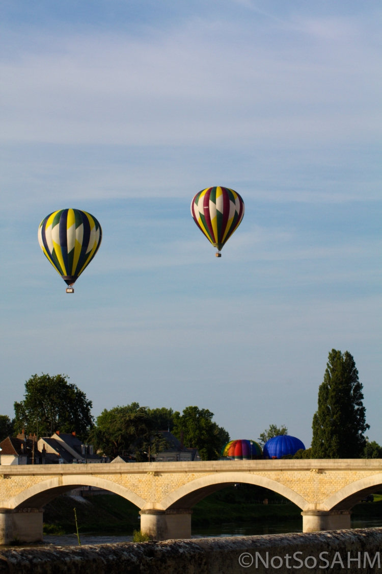 Hot air balloons over the Loire, Amboise, France Not So SAHM