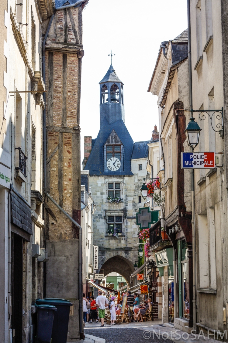 Narrow shop streets in Amboise, France Not So SAHM