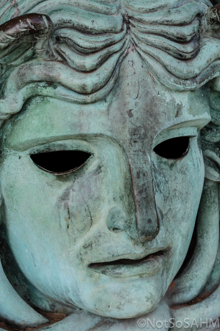 Medusa's face, Amboise, France Not So SAHM