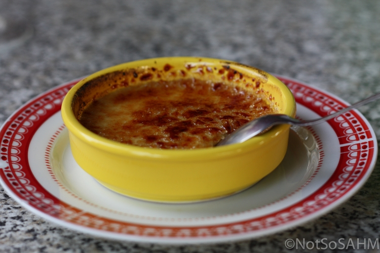 Creme brulee in Amboise, France  Not So SAHM