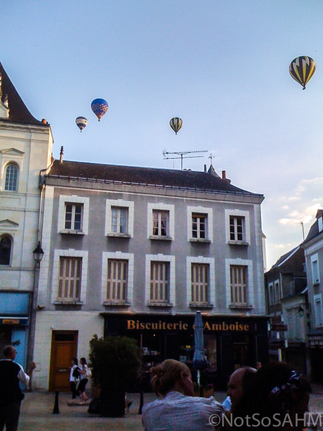 Hot air balloons over Amboise, France   Not So SAHM