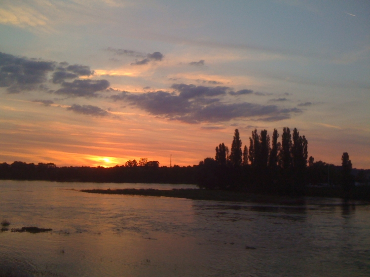 Loire River sunset Amboise, France Not So SAHM