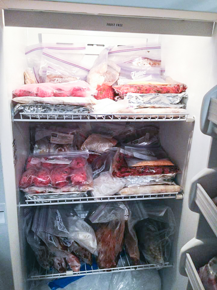 Freezer full of meals Not So SAHM