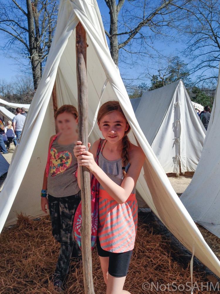 Revolutionary war camp at Yorktown Victory Center Not So SAHM