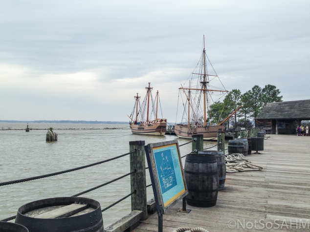 Reenactment ships at Jamestown