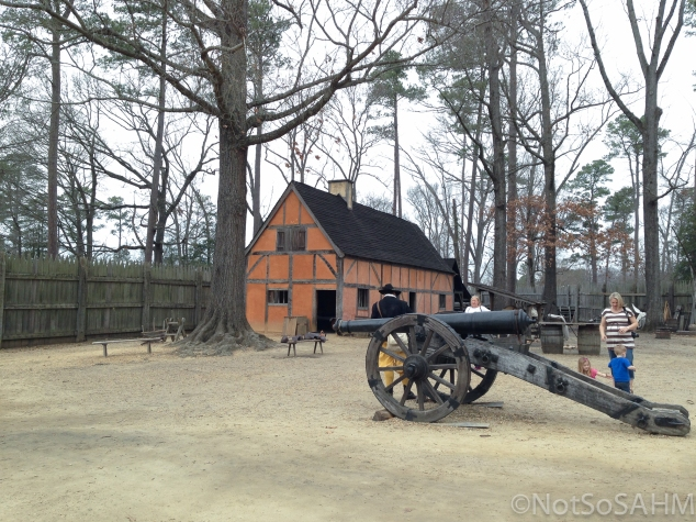 Inside the Jamestown Settlement Not So SAHM