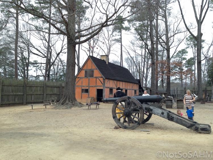Inside the Jamestown Settlement Not So SAHM