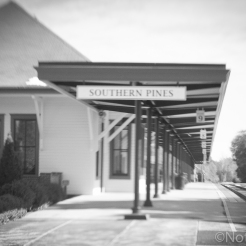 Southern Pines train station Not So SAHM