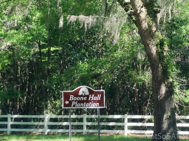 Boone Hall Plantation sign