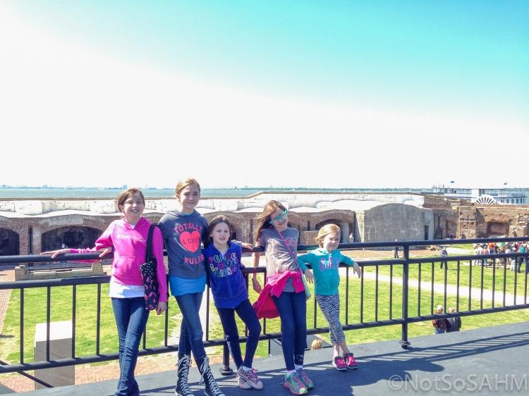 Girls at Ft Sumter