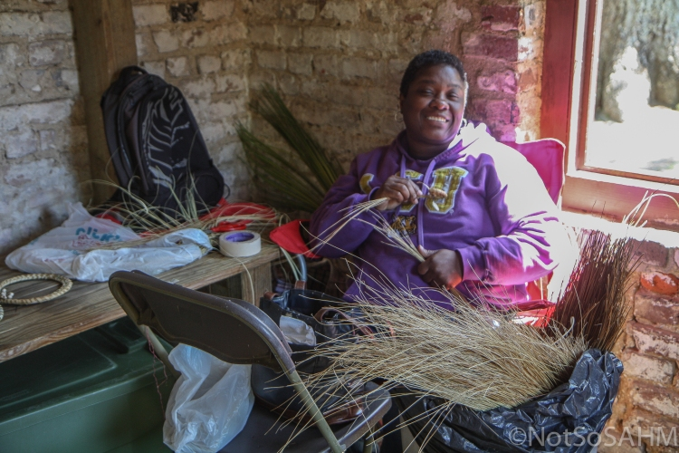 Making a sweetgrass basket