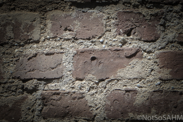 Finger prints in brick