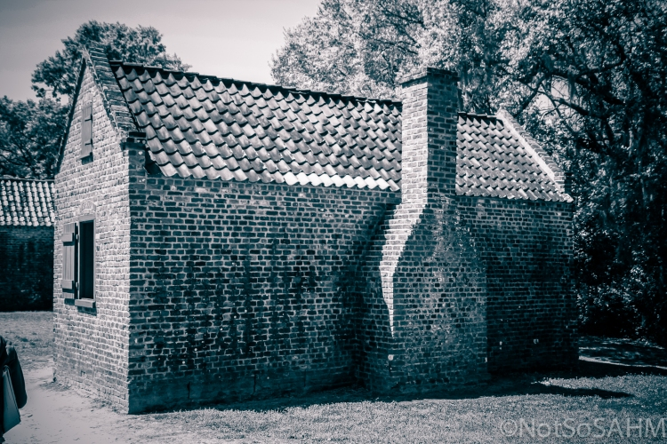 slave house with maker's mark Boone Hall