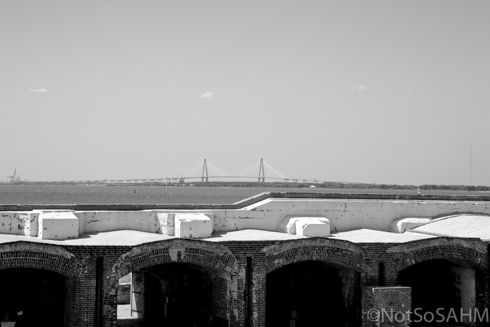 Cooper River Bridge from Ft Sumter