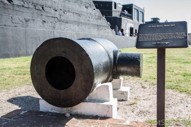 10 inch mortar at Ft Sumter