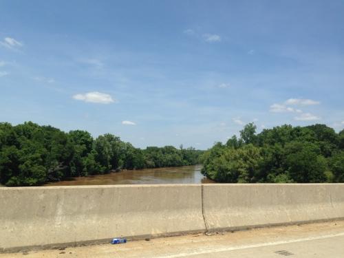 Yadkin River where Cornwallis and Boone crosse