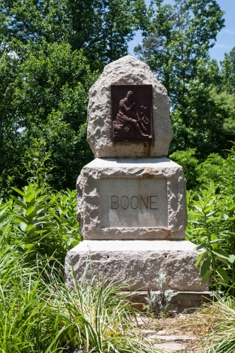 Rock monument for Boone