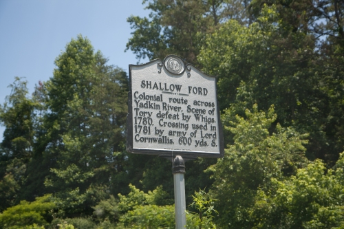 Shallow Ford of Yadkin River in NC