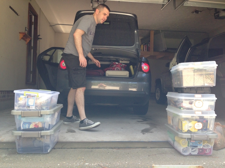 packing up the cars