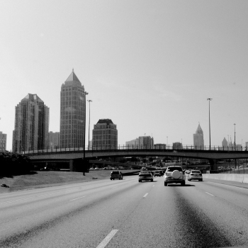 Driving through Atlanta