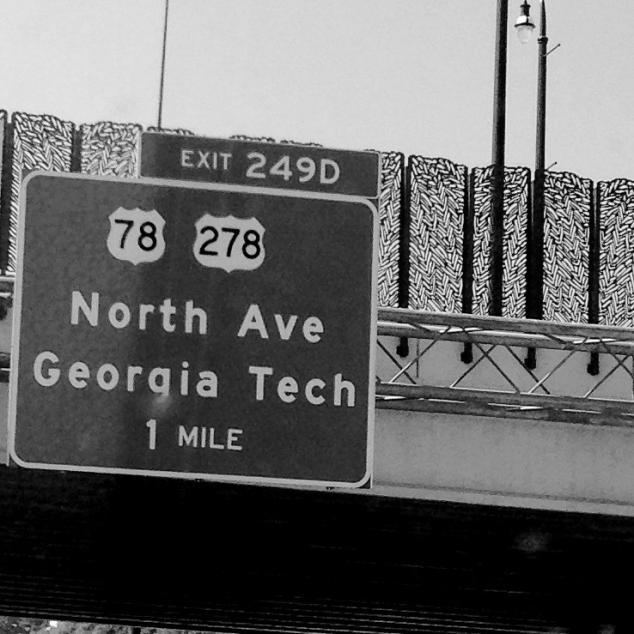 Ga Tech road sign