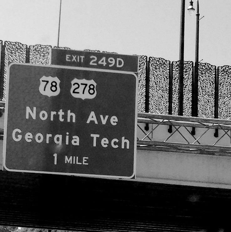 Ga Tech road sign