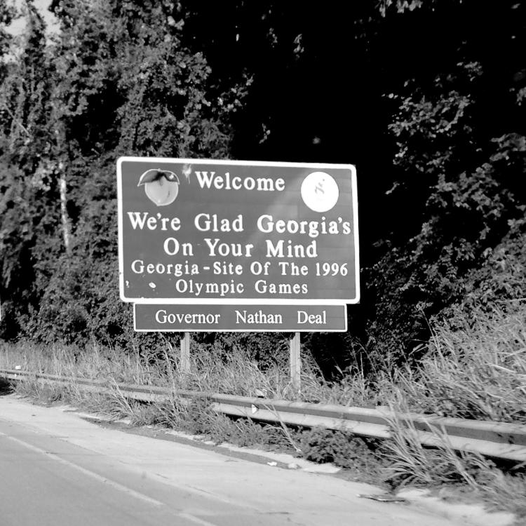 Entering GA sign