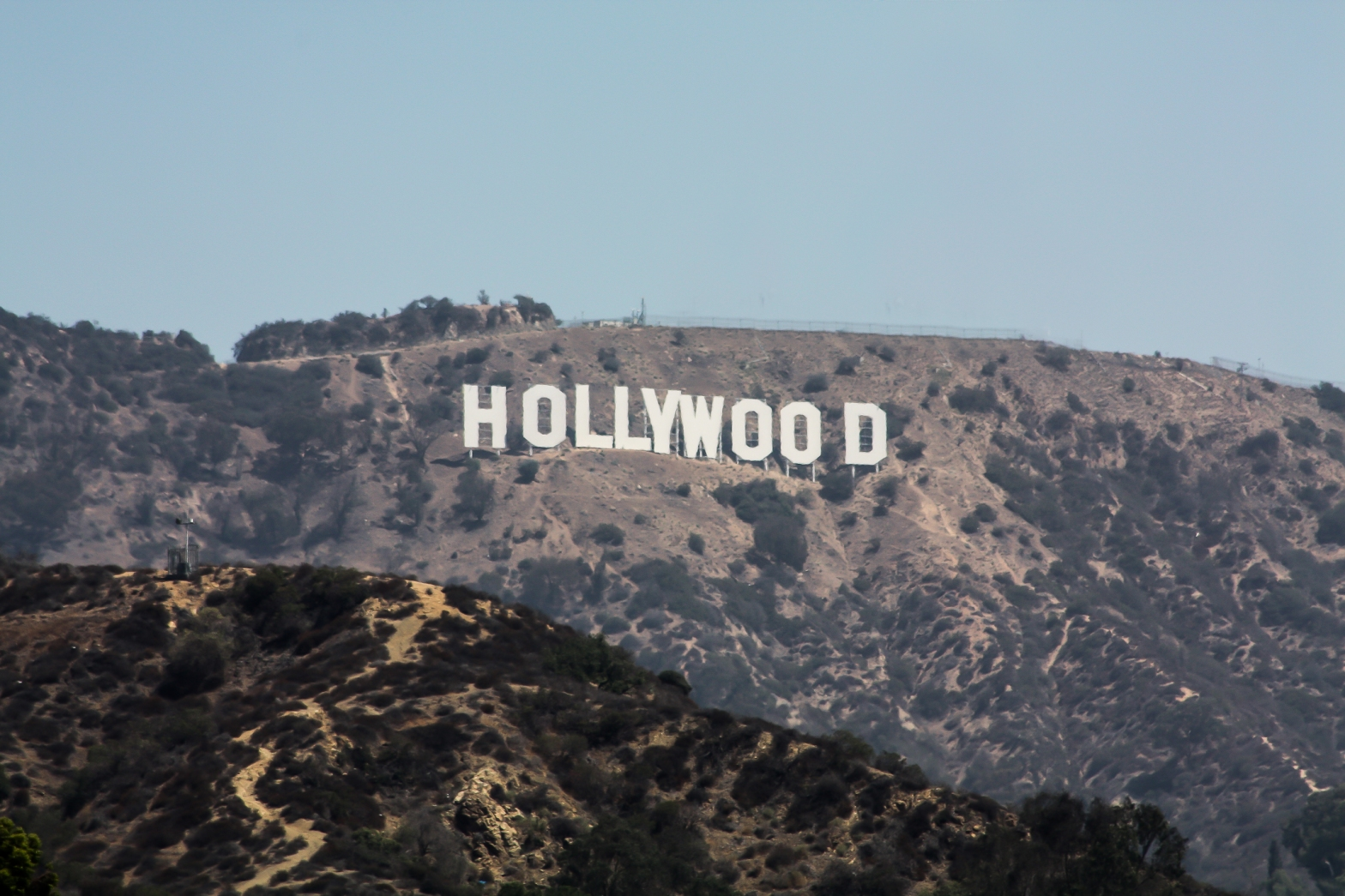 The Hollywood sign - edited