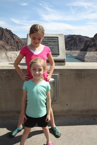 Nevada - Arizona border at the Hoover Dam