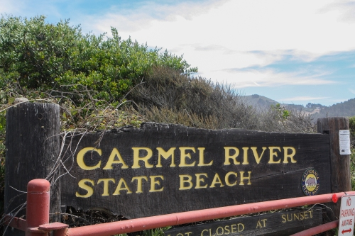 Carmel River State Beach sign