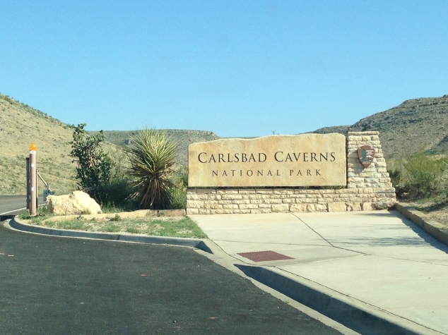 Carlsbad Caverns sign