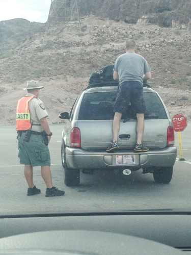 Security check at Hoover Dam