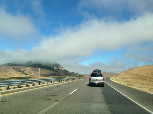 Low clouds in the morning on the PCH