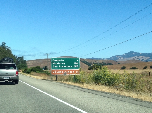Destination sign on the PCH
