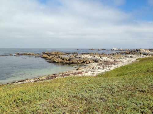 tide coming in - Monterey