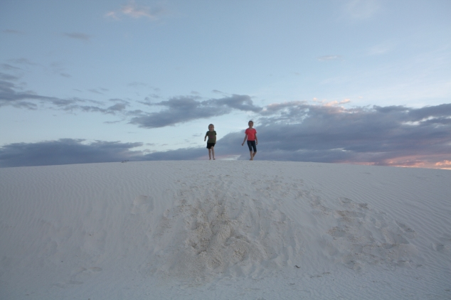Running the dunes at White Sands