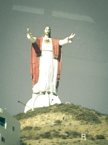 Jesus statue near Rosarito, Mexico Not So SAHM