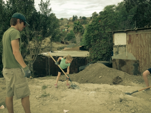 Building a trench at the dump town in Tijuana, Mexico  Not So SAHM