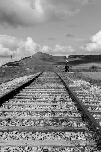 Tracks at transcontinental railroad Promontory Not So SAHM