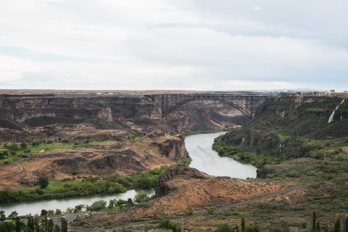 Perrine Bridge over Snake River near Twin Falls Idaho Not So SAHM