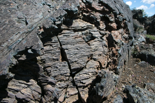 lava flow looks like tree bark at Craters of the Moon Idaho Not So SAHM