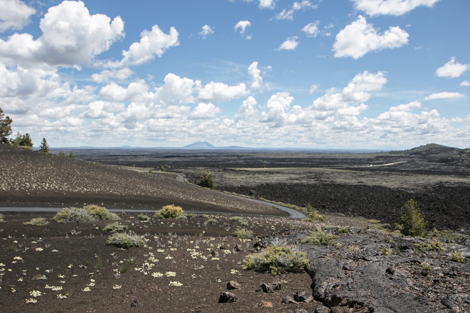 lava field for miles at Craters of the Moon Idaho Not So SAHM