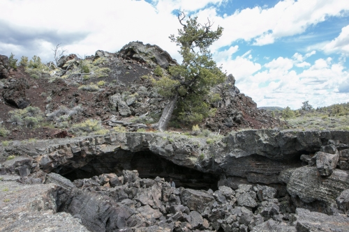 lava tube at Craters of the Moon Idaho Not So SAHM