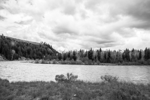 Cloudy day on the Snake River with the Tetons hidden in the background Not So SAHM