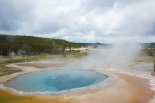Blue thermal pool at Yellowstone National Park Wyoming Not So SAHM