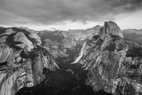 Half Dome in Yosemite Valley black from Tunnel View black and white Not So SAHM