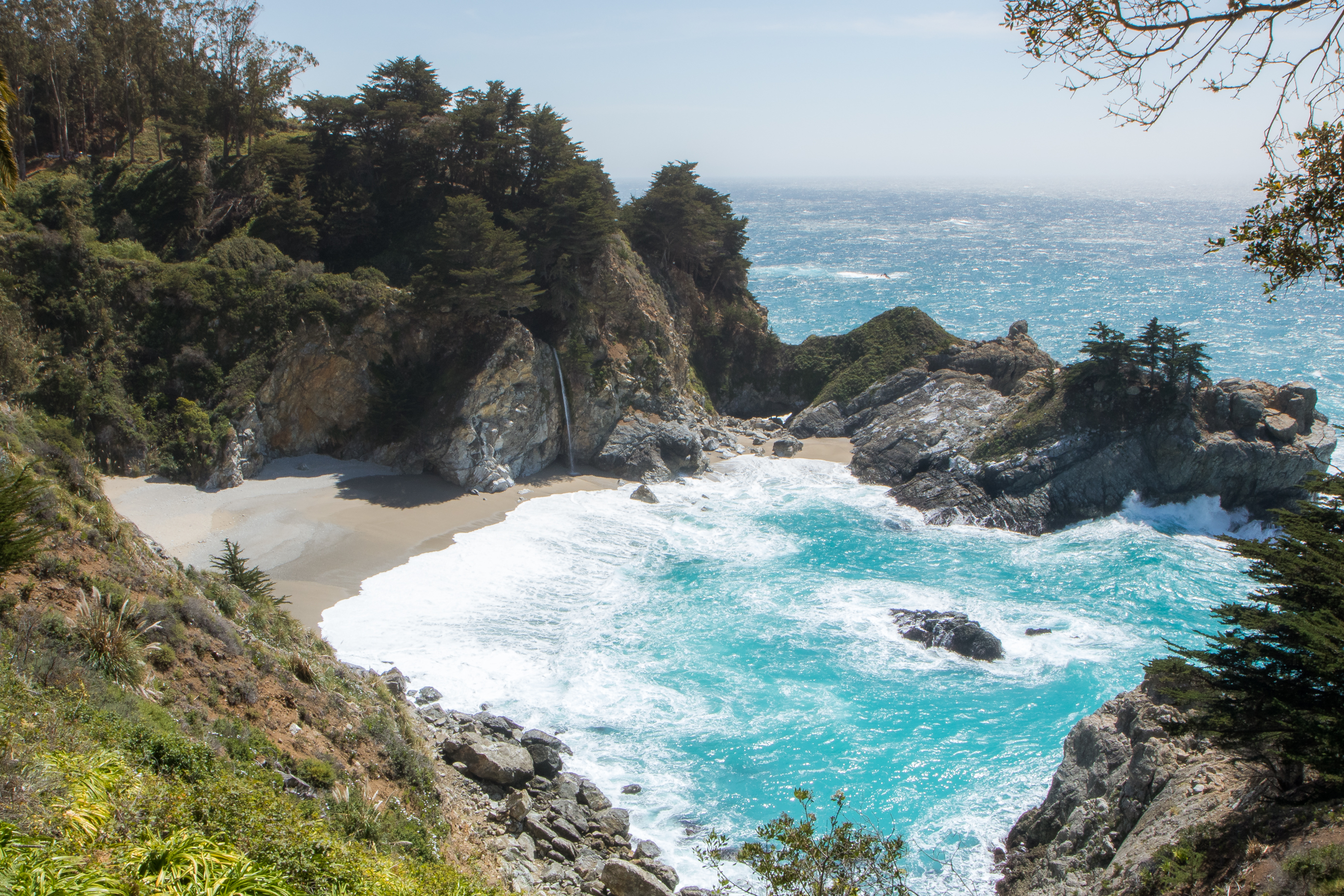 McWay Falls on the Pacific Coast Highway Big Sur California Not So SAHM
