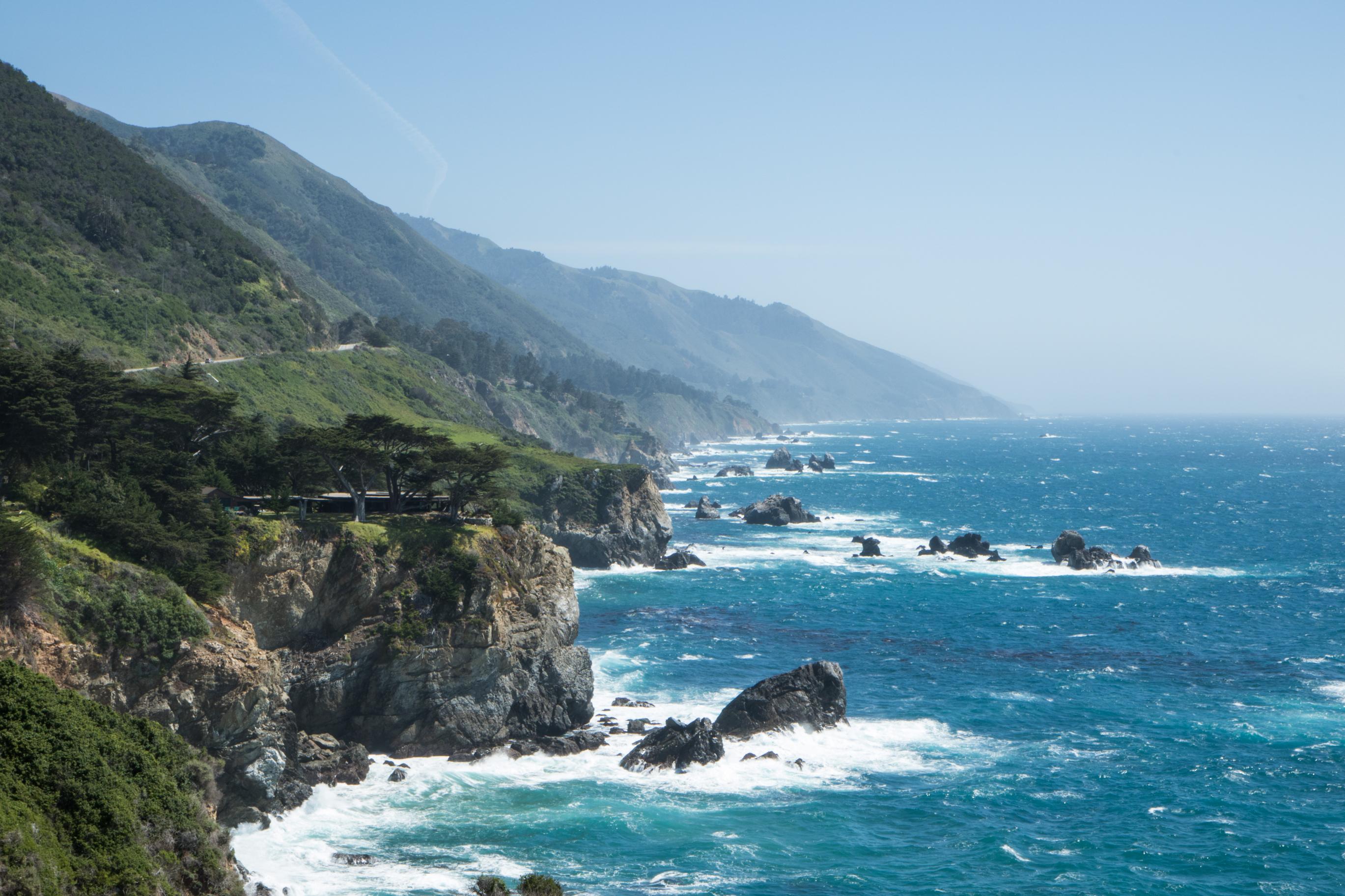 Pacific Coast Highway view Big Sur California Not So SAHM